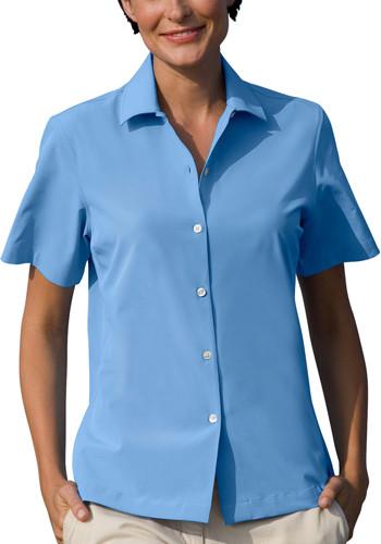 Vansport Womens Woven Camp Shirts   VA1846