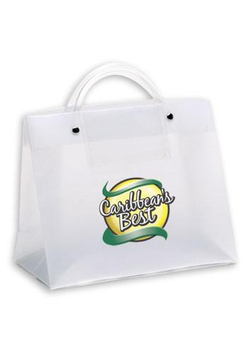 Tube Handle Foil Hot Stamp Plastic Shopping Bags | BM36EXVP108