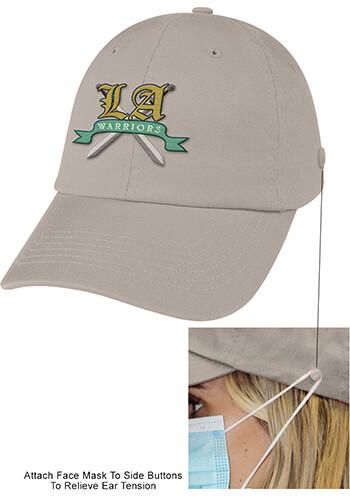 Customized Washed Cotton Mask Caps