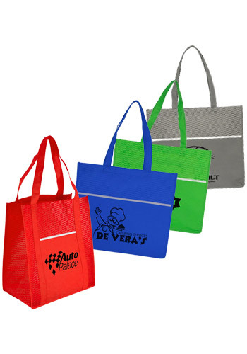 Personalized Wave Grocery Shopper Bags