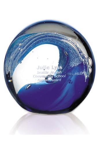 Customized Jaffa Wave Art Glass Awards