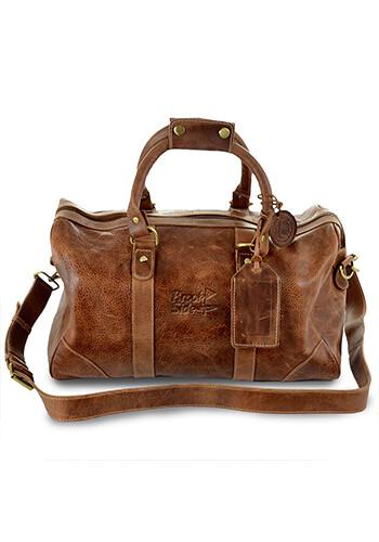 Personalized Westbridge Leather Duffel Bag