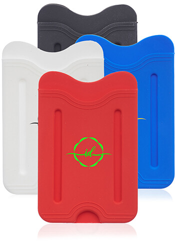 Wholesale Whillock Silicone Phone Wallets with Finger Grip
