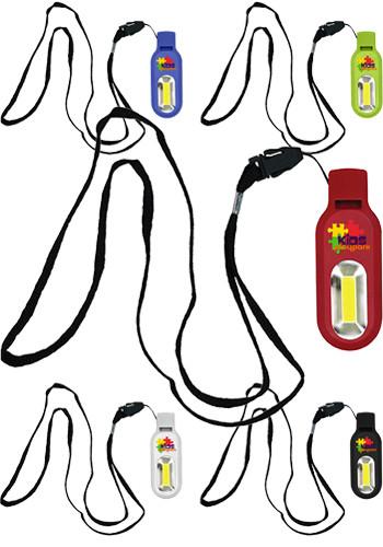 Custom Whistles-COB Light Lanyard - Full Color