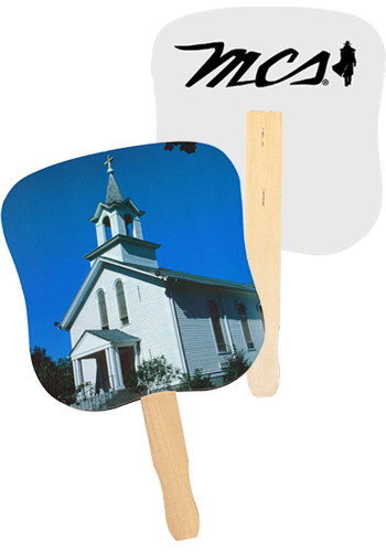 Wholesale White Church Hand Fans