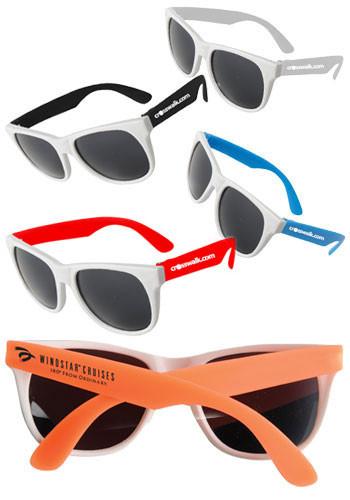 White-Framed Neon Sunglasses