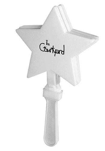 Bulk White Star Hand Clappers