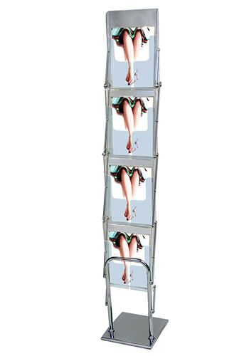 Promotional Clear View 4 Tiered Acrylic Literature Displays