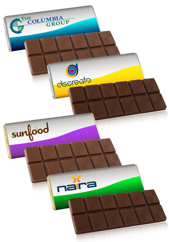 Customized 1.75 oz. Belgian Chocolate Bar with  Wrapper