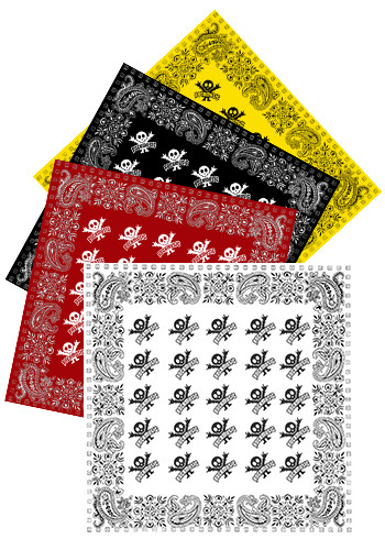 Personalized 22W x 22H Solid Bandanas