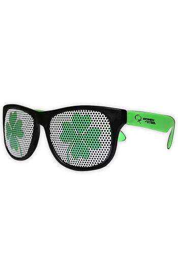 Shamrock Neon Green Billboard Plastic Sunglasses