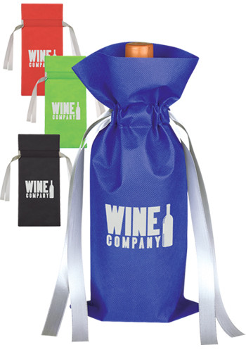 Personalized Wine Bottle Non-Woven Gift Bags