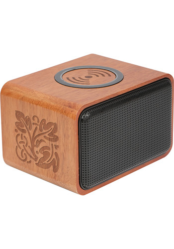 Promotional Wood Bluetooth Speakers With Wireless Charging Pad