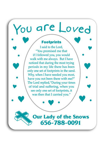 You are Loved 3in x 3.75in Magnets