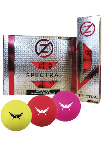 Personalized Zero Friction Spectra Matte Colored Golf Balls