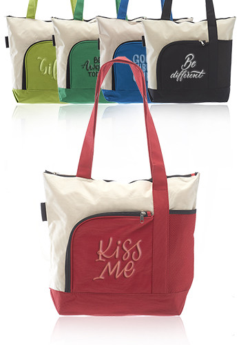 Zipper Polyester Tote Bags | TOT92