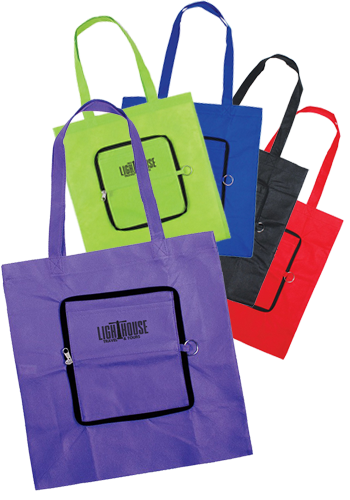 Personalized Zippin Tote Bags
